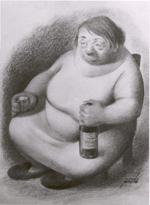 """Pintura """"Borracha"""" Manolo Prieto"""
