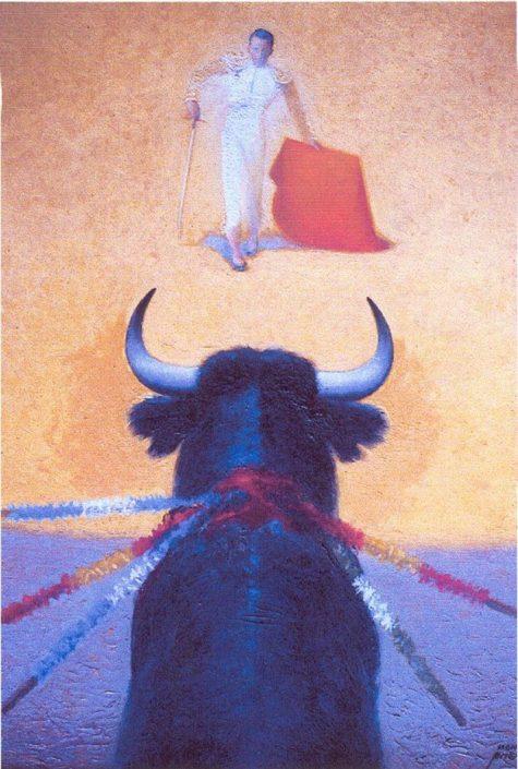 "Pintura ""Tauromaquia. Citando por natural"" Manolo Prieto"
