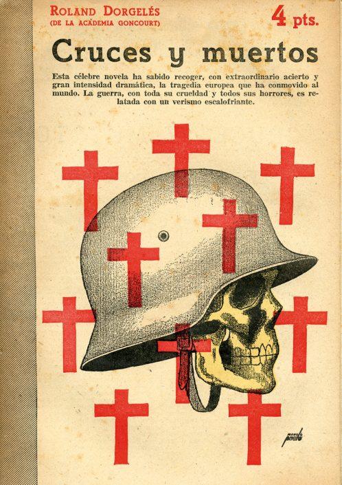 Cruces y muerte - Portada de Manolo Prieto