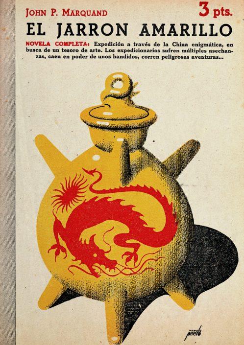 El jarrón amarillo - Portada de Manolo Prieto