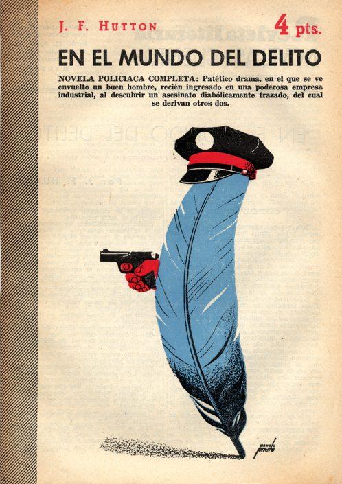 En el mundo del delito - Portada de Manolo Prieto