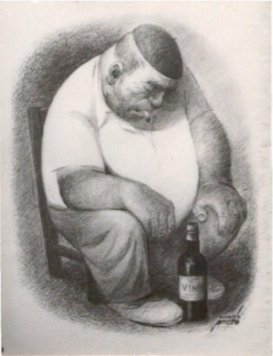 """Pintura """"Borracho"""" Manolo Prieto"""