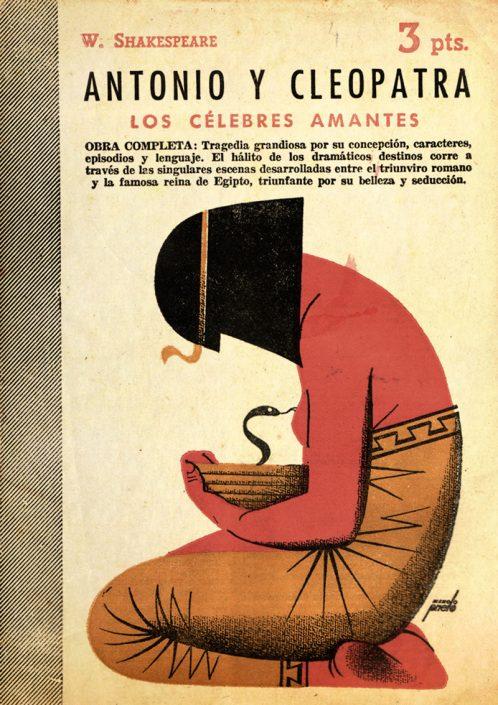 Antonio y Cleopatra - Portada de Manolo Prieto
