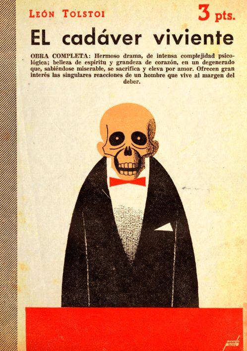 El cadaver viviente - Portada de Manolo Prieto