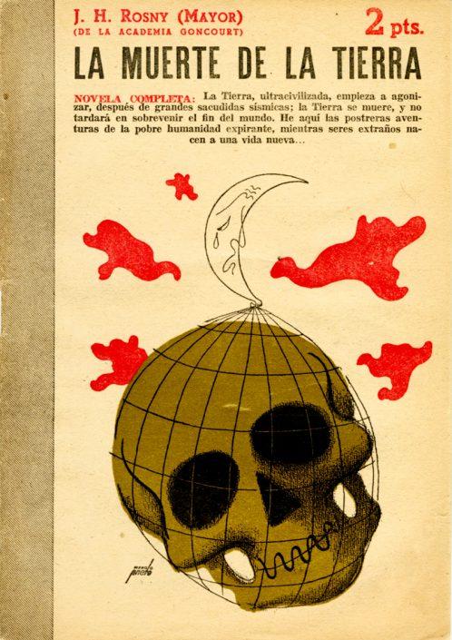 La muerte de la Tierra - Portada de Manolo Prieto